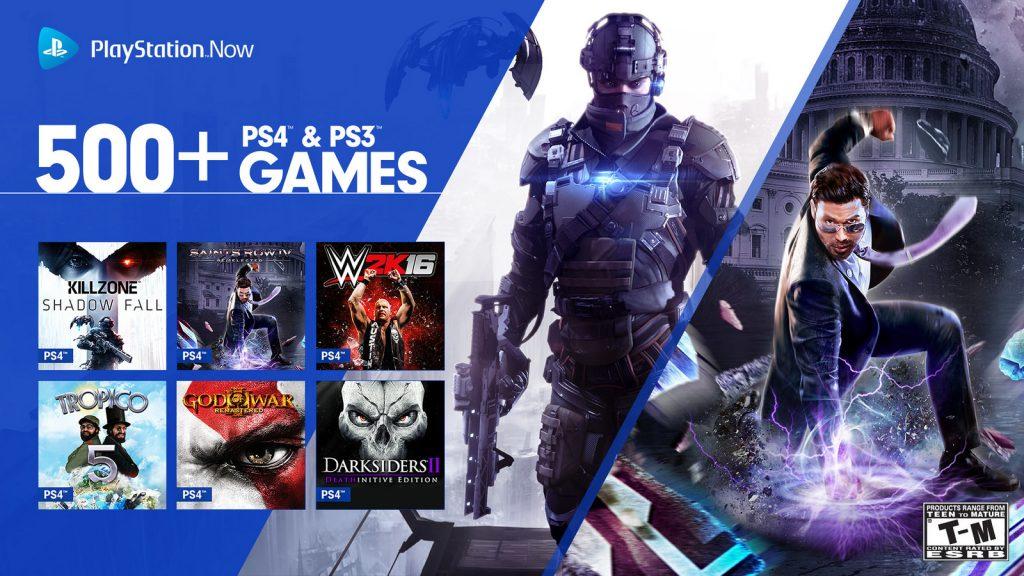 Il y a maintenant une pléthore de jeux sur le Playstation Now